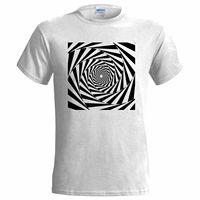 ILLUSION 1 DESIGN MENS T SHIRT ART SPIRAL URBAN GRAFFITI PAINT COOL SKETCH Print T Shirt