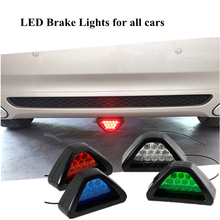 New Warning lamp HIGH VISIBILITY 3RD BRAKE LAMP F1 STYLE UNDER DIFFUSER/BUMPER 12 RED LED red,white,blue, green