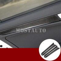 For Audi A4 S4 Carbon Fiber Inner Car Door Panel Moulding Trim Cover 2008 2015 4pcs