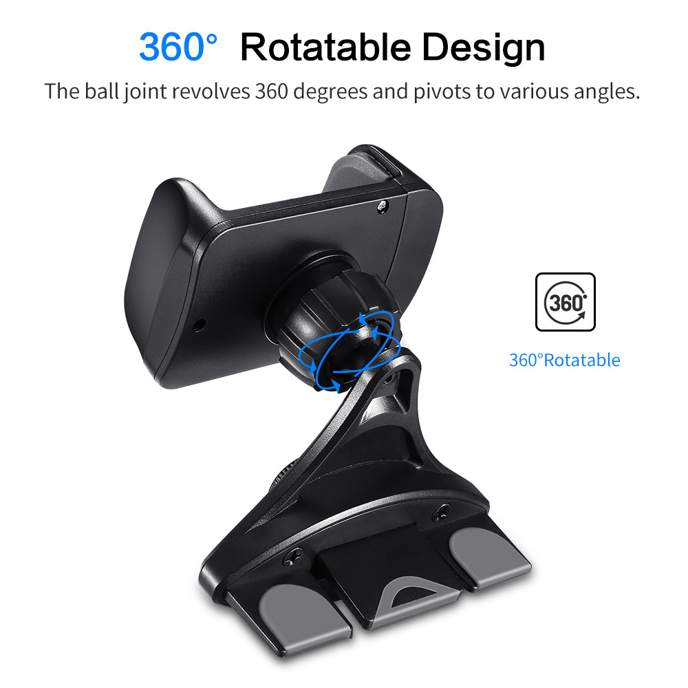 KISSCASE 360 Degree Gravity Car Phone Holder For CD Player For Cell Phone Slot Holders Telefon Tutucu Mount Stand Support Holder