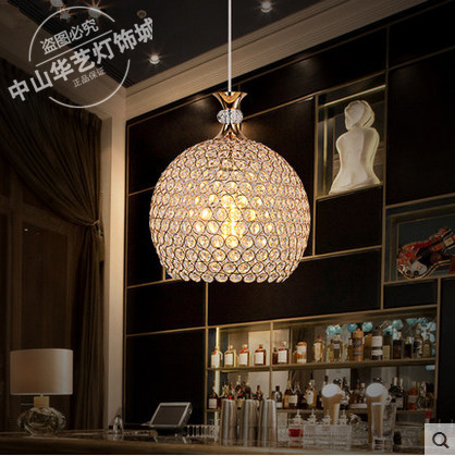 купить Modern minimalist LED glass crystal pendant light restaurant bedroom personalized  hanging lighting недорого