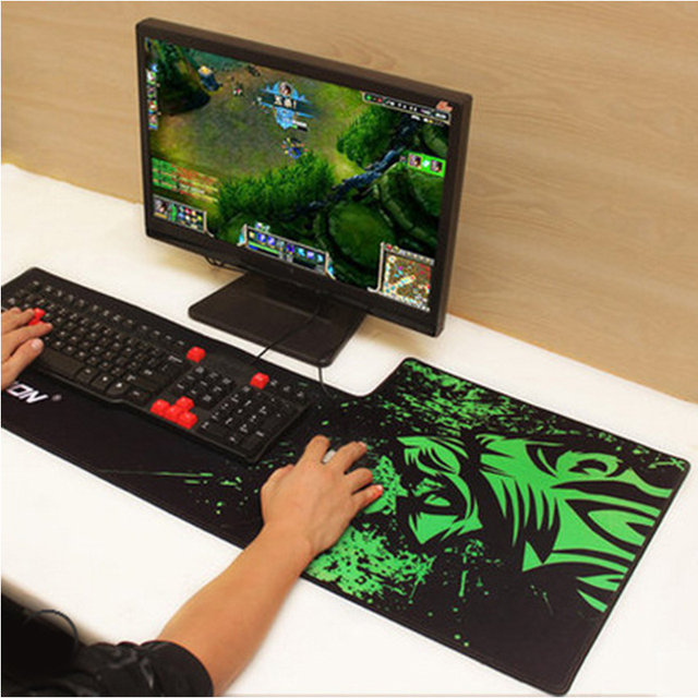 Rakoon 40x90 cm incumplimiento antideslizante 3d mouse pad gamer profesional grande Teclado Gaming Mousepad Grande Estera para Dota 2 LOL CS IR