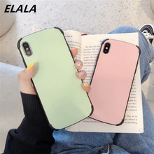 ELALA Cute Candy Color Matte Case For iPhone 7 Invisible Bracket Soft Silicon Cover iphone 6 6s 8 plus X XR XS MAX