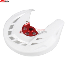 цена на Motorcycle Front brake disk protective cover For CR125 CR250 CRF250R CRF450R MX Motocross Off Road Motorcycle Free shippng