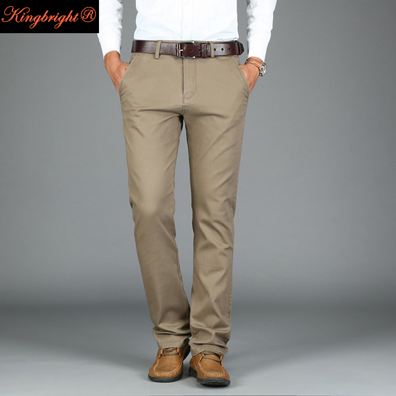 Popular Khaki Dress Pants for Men Slim Fit-Buy Cheap Khaki Dress ...