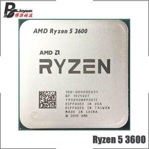 AMD Ryzen 5 3600 R5 3600 3.6 GHz Six-Core Twelve-Thread CPU Processor 7NM 65W L3=32M 100-000000031 Socket AM4