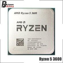 AMD Ryzen 5 3600 R5 3600 3.6 GHz ستة النواة اثني عشر موضوع معالج وحدة المعالجة المركزية 7NM 65 واط L3 = 32 متر 100 000000031 المقبس AM4