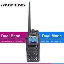 New start DMR Baofeng dual modus analog & Digital walkie talkie DM-1701 Tier 1 + 2 Dual Zeit Slot DM1701 schinken Dual band Radio