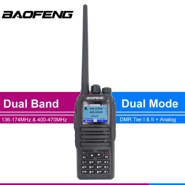 Walkie talkie dmr baofeng de novo lançamento, modo duplo, analógico e digital, DM 1701 tier 1 + 2, slot dual time dm1701 ham rádio de banda dupla