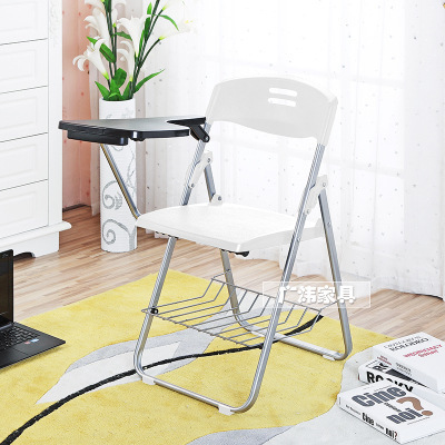 High quality Folding Office Chairs Conference Chairs Writing Chair with Wordpad and book holder 1