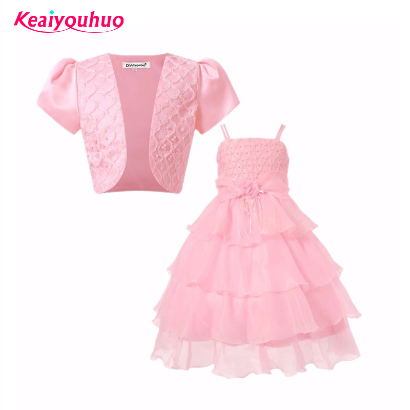 Children Kids Dresses For Girls 3 4 5 6 7 8 Year Birthday Outfits Dresses 2 Pce outwear+dress Girls Evening Party Formal Wear агхора 2 кундалини 4 издание роберт свобода isbn 978 5 903851 83 6