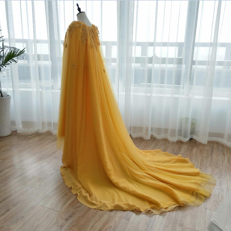 140d8f42fe Aliexpress.com : Buy Amazing Gorgeous Gold Wedding Wrap Lace pearls Elegant  Bridal Long Cape 5 layers women Special Evening Shawl ZJ008 from Reliable  ...