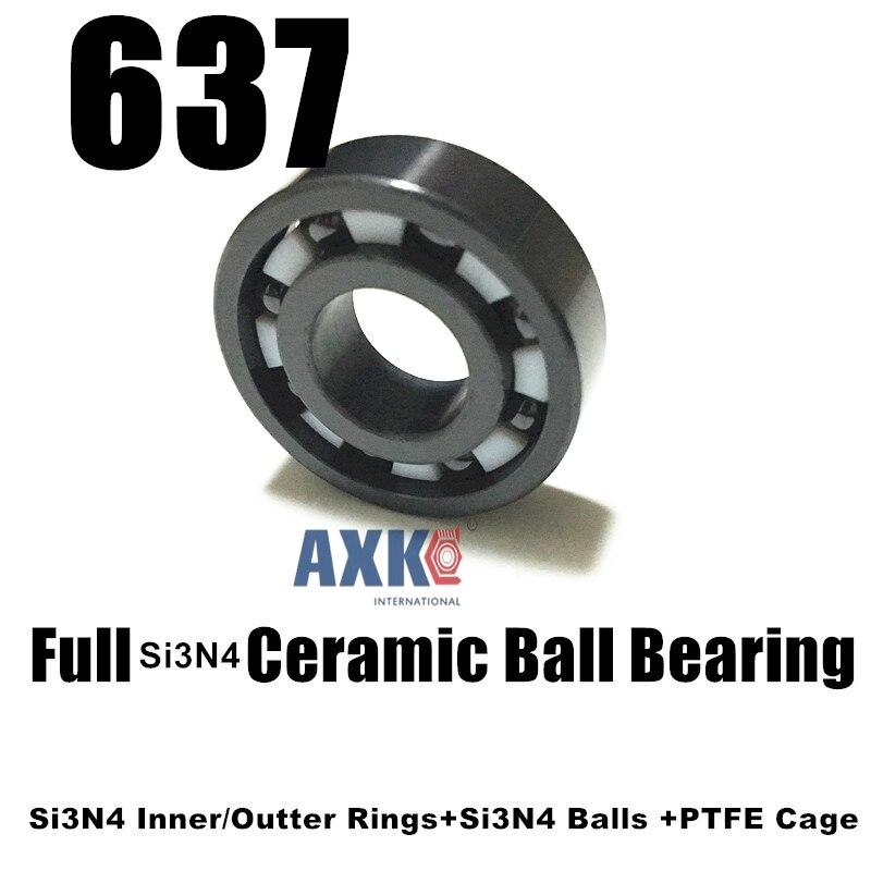 637 Full Ceramic Bearing 7*26*9mm 637 SI3N4 CB Bearing Si3N4 Silicon Nitride CJ Bearing store637 Full Ceramic Bearing 7*26*9mm 637 SI3N4 CB Bearing Si3N4 Silicon Nitride CJ Bearing store