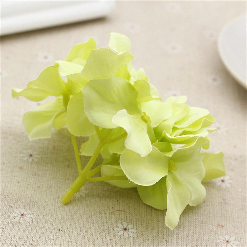 2pcs New 8 Colors Length Silk Artificial Hydrangea Flower For Home