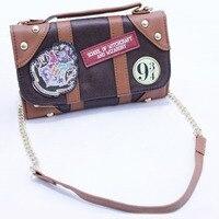 2017 Harry Potter Hogwarts PU School Badge Wallet Package Collectibles Shoulder Bag Handbags Purse Cos Pros