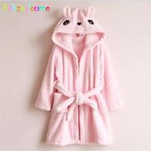 Autumn Winter Baby Girl Bathrobes Kids dressing gown Soft Flannel Warm  Cartoon Hooded Children Robe Towel Toddler Boys Clothes cb5297f7d