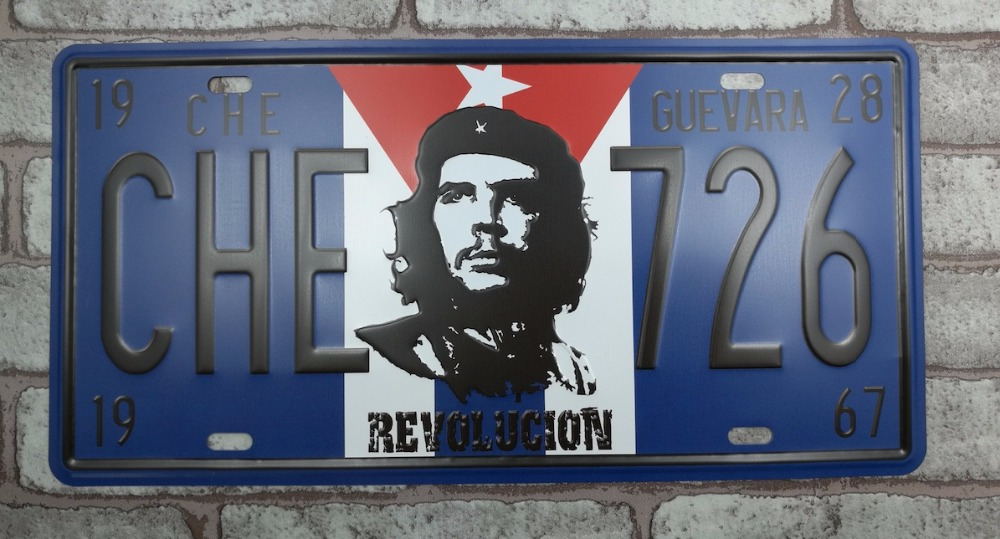 1 pc Che Guevara Cuba Shop plaques Tin Plate Sign plate wall man cave Decoration Metal Art dropshipping Poster metal in Plaques Signs from Home Garden
