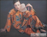 Handmade oil painting Chinese woman Chinese classical beauty lady on canvas wall living room canvas portrait painting Wholesale