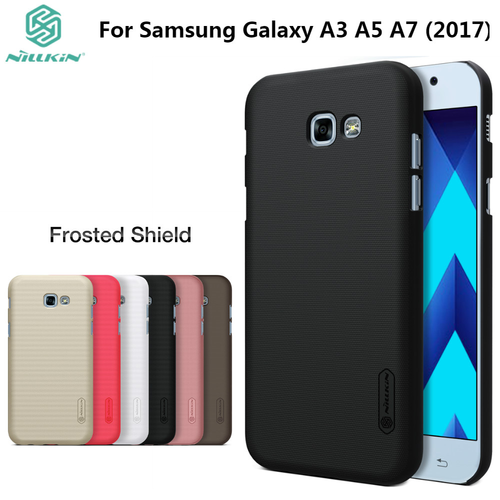A3 A5 A7 2017 Nillkin Frosted Case For Samsung Galaxy A3 2017/A5 2017/A7 2017 Hard Plastic Back Cover With Gift Screen ProtectorA3 A5 A7 2017 Nillkin Frosted Case For Samsung Galaxy A3 2017/A5 2017/A7 2017 Hard Plastic Back Cover With Gift Screen Protector