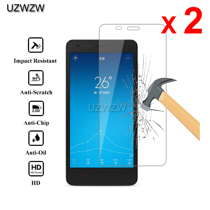 2pcs For Xiaomi Redmi 2 Redmi2 Premium 2.5D 0.26mm Tempered Glass Screen Protector For Xiaomi Redmi 2 Protective Glass
