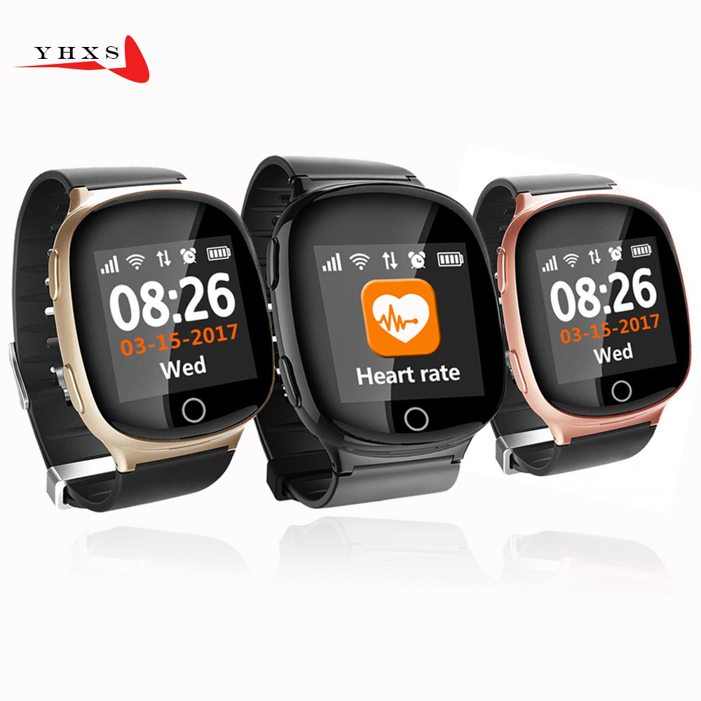 YHXS Smart GPS LBS Wifi Tracker Position for Elderly Child Wristwatch SOS Call Safe Anti-Lost Remote Heart Rate Monitoring Watch