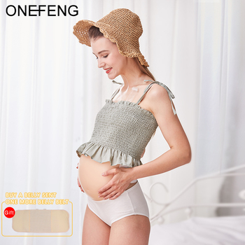 ONEFENG New Style Skin Artificial Fake Silicone Jelly Belly Baby Bump Doll Pregnant Belly 1000-1500g/pc 4 5months 1500g silicone belly sexy navel fake pregnant belly for men and women jelly beer belly pregnant with bag