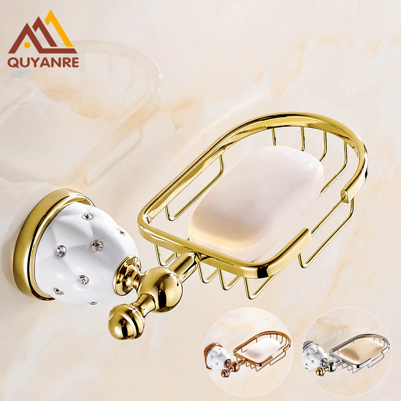 Bathroom Hardware Quyanre Bathroom Hardware Crystal Brass Flexible Soap Basket/soap Dish/soap Holder/bathroom Accessories,bathroom Furniture Preventing Hairs From Graying And Helpful To Retain Complexion Soap Dishes