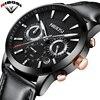 NIBOSI Watch Men Waterproof Top Luxury Business Relogio Masculino Leather Strap Band Erkek Kol Saati Quartz