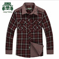 AFS JEEP Falow Outono/Primavera Novo Estilo Xadrez Camisas, Camisa de Algodão Verde Vermelho Casual Geral, Europa Americano estilo Casual Camisa Dos Homens