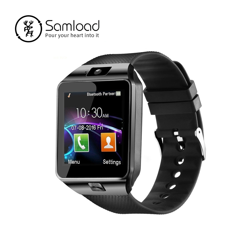 Samload inteligente reloj Bluetooth DZ09 deporte muñeca inteligente soporte SIM tarjeta SD con cámara para Android, IOS, iPhone, Samsung, LG, xiaomi
