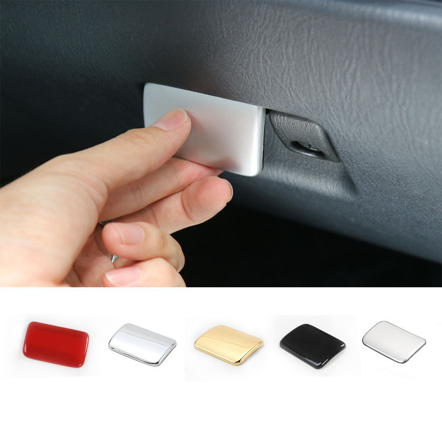 Car Styling Interior Accessories Front Driver Armrest Magic Storage Box Key Lock Glove Cover Frame Sticker For for Suzuki Jimny