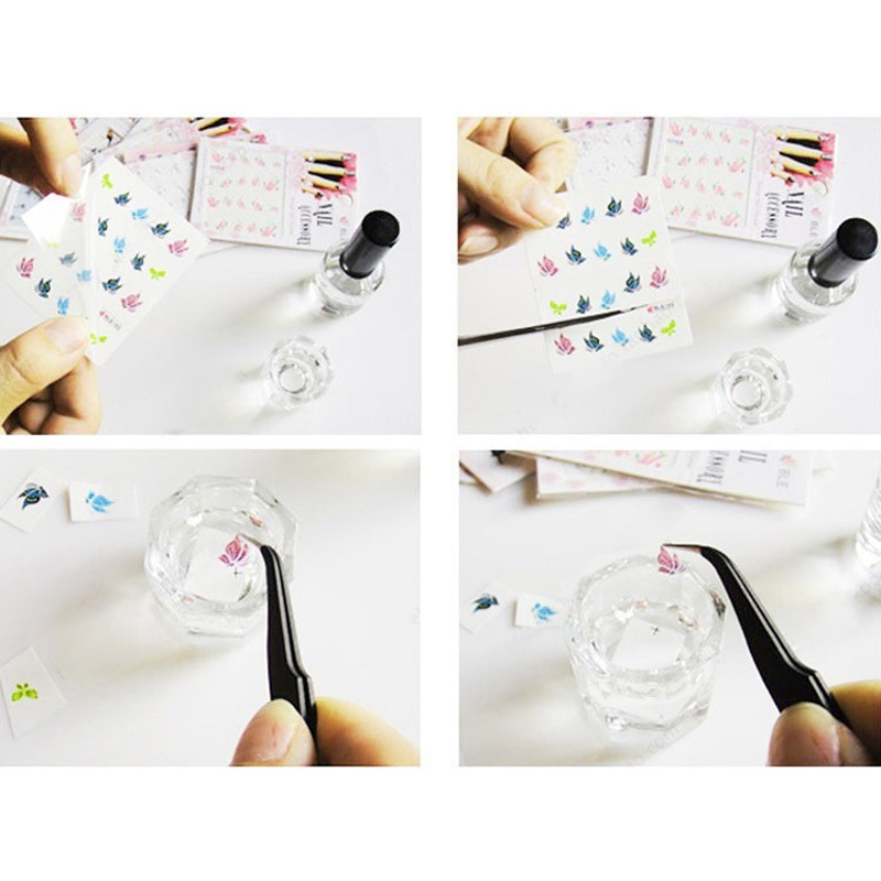 1pcs French Manicure Tools Flowers Water Transfer Nail Sticker Sheet ...