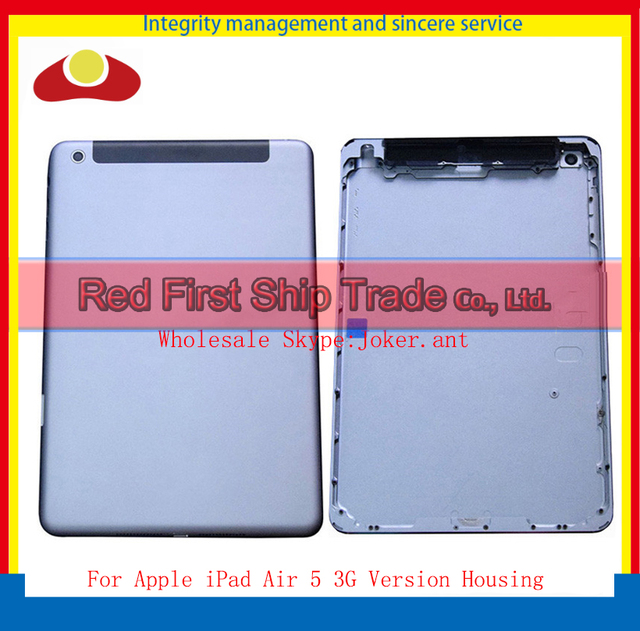 10Pcs/lot For iPad Air iPad 5 Wifi or 3G Version Back Rear housing Back Cover Rear Case Battery Door With Logo Silver Gray