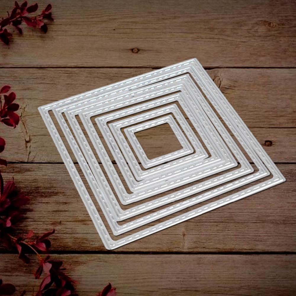 Scrapbook Cutting Embossing Square Frame Dies Paper Card Stencil Album Metal