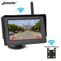 Jansite 4.3 Car Monitor Wireless Rear View Backup Camera car screen LCD Reverse display 12V 24V Parking assistance LED camera