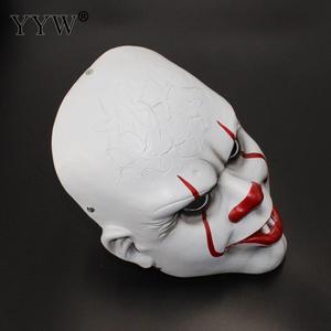 Image 2 - Clown Mask Stephen KingS It Mask Penny Wise Horror Joker Masker Scary Full Face Masks Mascaras Halloween Cosplay Costume Props