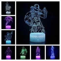 Magiclux Новинка Освещение 3D иллюзия светодиодный светильник Fortress Ночная фигурка битва рояль для Декор для детских комнат творческие лампы