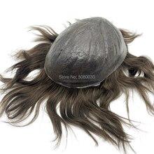 Парик из тонких человеческих волос, мужской парик, хорошее качество