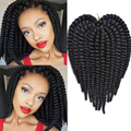 "Synthetic Crochet Braids 12""/70g/bag Hair Extensions Curly Braiding Hair Havana Mambo Twist Crochet Box Braid Extensions"