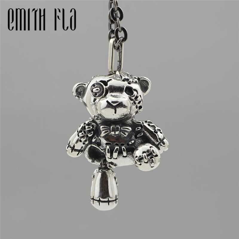 Genuine 925 Sterling Silver Patch Bear Beads Fit Original Brand Bracelet Jewelry Vintage Animal Beads for