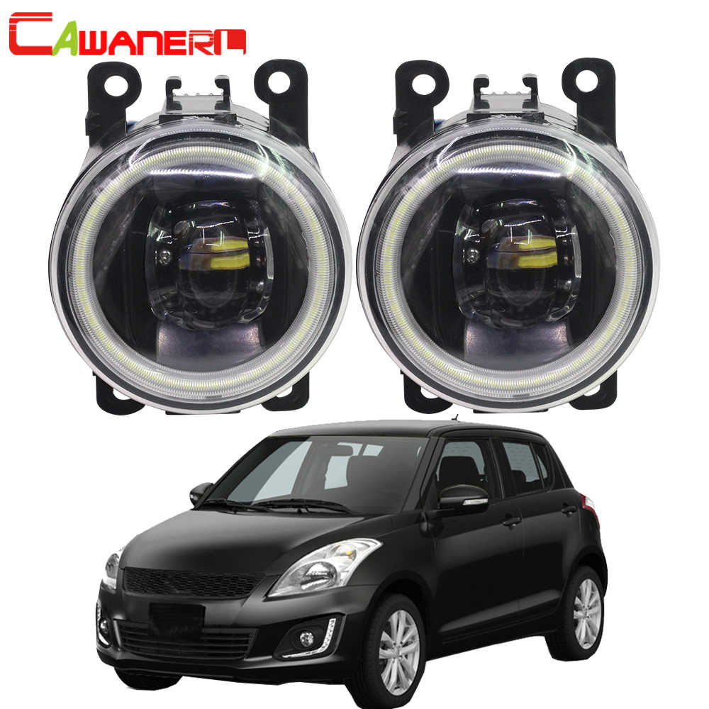 Cawaner For Suzuki Swift MZ EZ Hatchback 2005-2015 Car 4000LM LED Bulb H11 Fog Light Angel Eye Daytime Running Light DRL 12V