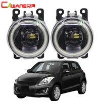 Cawaner For Suzuki Swift MZ EZ Hatchback 2005 2015 Car 4000LM LED Bulb H11 Fog Light Angel Eye Daytime Running Light DRL 12V