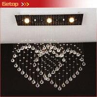 ¡Mejor precio! lámpara de techo en forma de corazón moderna minimalista lámpara de cristal de doble corazón luces LED de cristal lámpara de sala de estar de dormitorio