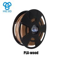 Free shipping HE3D makerbot PLA wood filament 3D printing material for 3d printer 1.75mm 0.8Kg