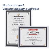 A3 Серебряный сертификат рамка картина из ПВХ плакат фоторамка настенное крепление для документов офис Annouce дисплей