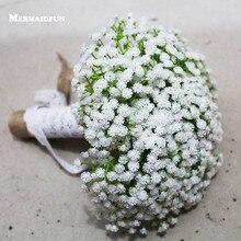 2018 Real Photos Artificial White Little Flower Wedding Bouquet Beautiful Wedding Accessories Bouquet Mariage