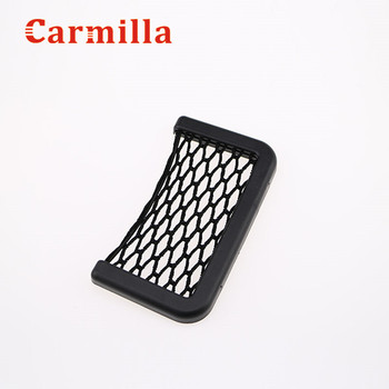 Carmilla Car Storage Net String Pouch Bag GPS Phone Holder Pocket Organizer for Ford Fiesta Ecosport Kuga 2014 2015 2016 2017 image