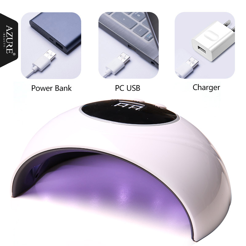AZURE SCHÖNHEIT Z4 36 watt UV LED Nagel lampe 12 LEDs Nagel trockner für Alle Nagel Gele Polnisch mit 60 s/80 s/99 s taste Perfekte Daumen Lösung