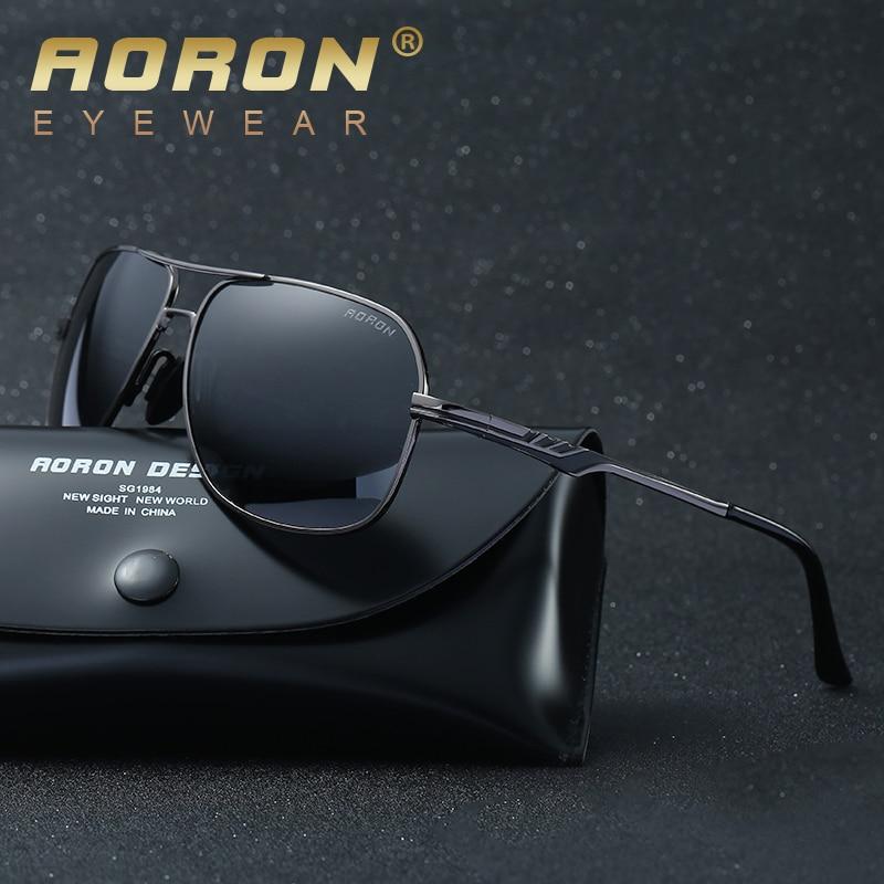 befaec751d Aoron marca de lujo para hombre logo original de la caja gafas de sol  polarizadas gafas de sol gafas mujeres diseñador de ocio gafas de sol en De  los ...