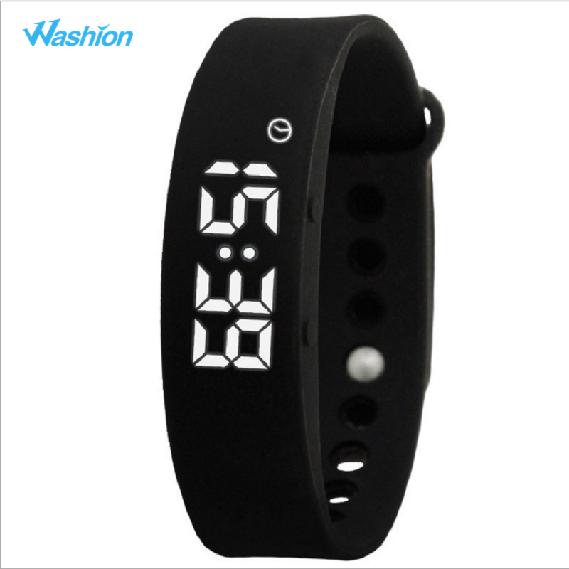 Washion Colorful Smart Band W5 Pedometer Fitness Wristband Sleep Activity Tracker Thermometer Sport Bracelet For PC